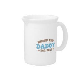 Brand New Daddy Est. 2017 (Blue) Drink Pitcher