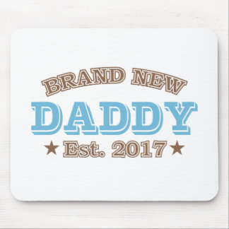 Brand New Daddy Est. 2017 (Blue) Mouse Pad