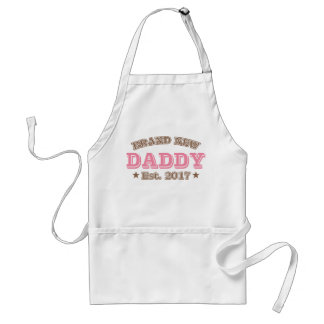 Brand New Daddy Est. 2017 (Pink) Adult Apron