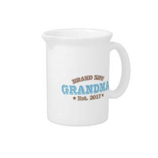 Brand New Grandma Est. 2017 (Blue) Drink Pitcher
