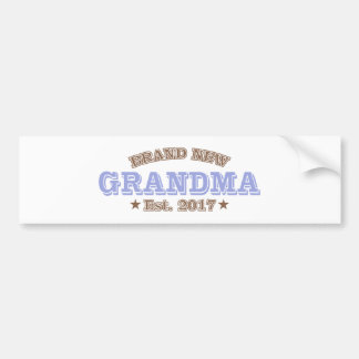 Brand New Grandma Est. 2017 (Purple) Bumper Sticker