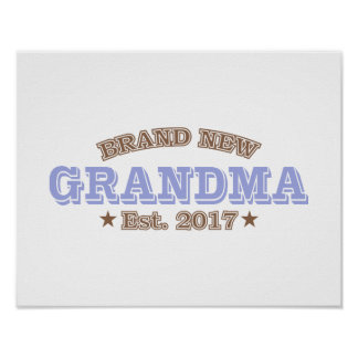Brand New Grandma Est. 2017 (Purple) Poster