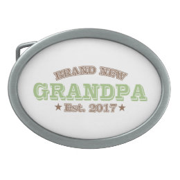 Brand New Grandpa Est. 2017 (Green) Belt Buckle