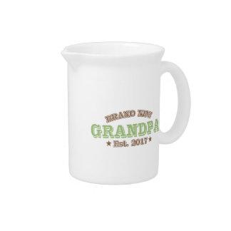 Brand New Grandpa Est. 2017 (Green) Drink Pitcher