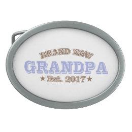 Brand New Grandpa Est. 2017 (Purple) Belt Buckle