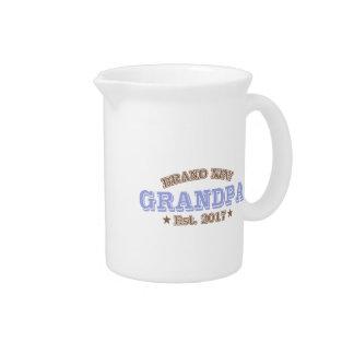 Brand New Grandpa Est. 2017 (Purple) Drink Pitcher