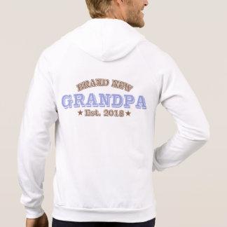 Brand New Grandpa Est. 2018 (Purple) Hoodie