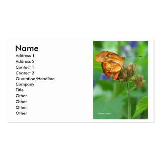 Brand new hatched butterfly baby, orange wings Double-Sided standard business cards (Pack of 100)