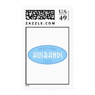 Brand New Husbands Club (Blue) Postage Stamp
