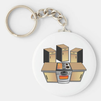Brand New Kitchen Remodel Home Improvement Project Keychain