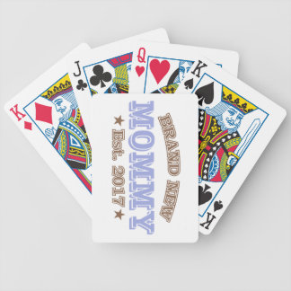 Brand New Mommy Est. 2017 (Purple) Bicycle Playing Cards