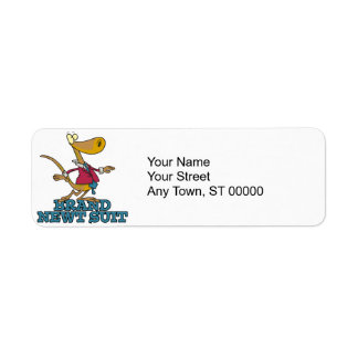 brand new newt suit lizard pun custom return address label