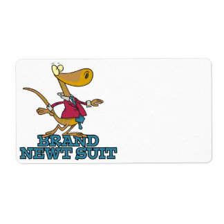 brand new newt suit lizard pun personalized shipping labels