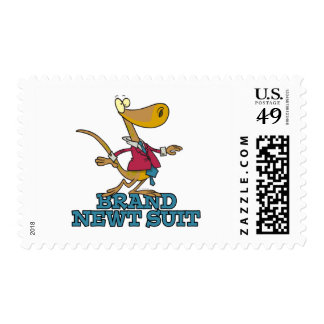 brand new newt suit lizard pun stamps