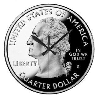 Brand New Quarter Dollar Large Clock