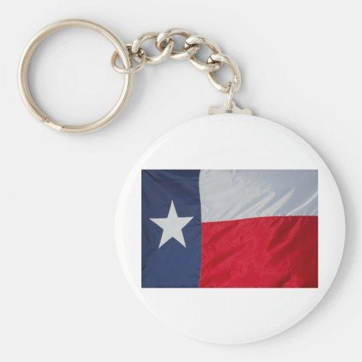 Brand New Texas Flag Basic Round Button Keychain