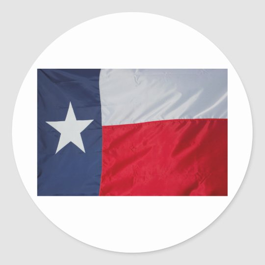 Brand New Texas Flag Classic Round Sticker