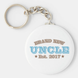 Brand New Uncle Est. 2017 (Blue) Keychain