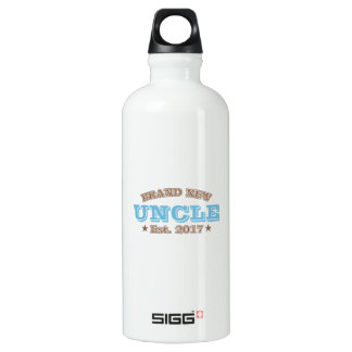 Brand New Uncle Est. 2017 (Blue) Water Bottle