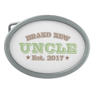 Brand New Uncle Est. 2017 (Green) Oval Belt Buckle