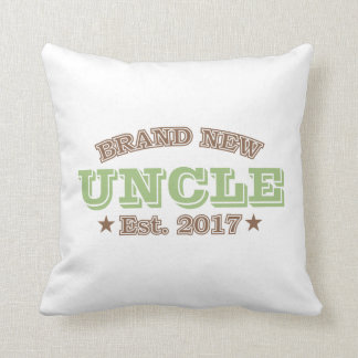 Brand New Uncle Est. 2017 (Green) Throw Pillow