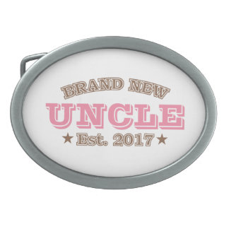 Brand New Uncle Est. 2017 (Pink) Oval Belt Buckle