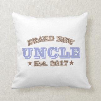 Brand New Uncle Est. 2017 (Purple) Throw Pillow