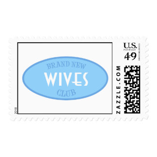 Brand New Wives Club (Blue) Postage Stamp