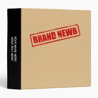 Brand Newb (Stamped) 3 Ring Binders