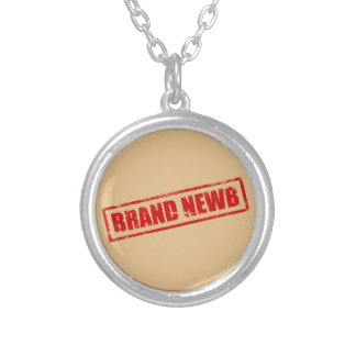 Brand Newb (Stamped) Round Pendant Necklace