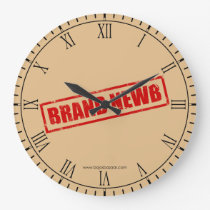 Brand Newb (Stamped) Wallclock