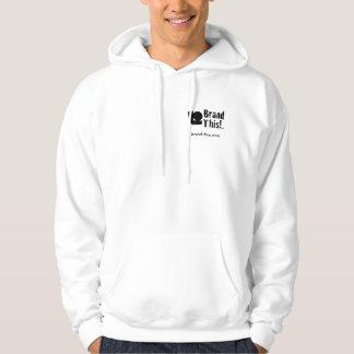 Brand This Hoodie Sweatshirt upper right n back