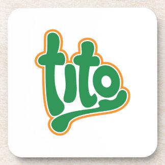 brand tito beverage coaster