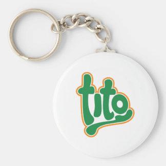 brand tito key chain