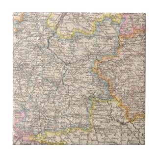 Brandeburgo, mapa del atlas de Posen Tejas Ceramicas