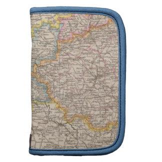 Brandeburgo, mapa del atlas de Posen Organizador