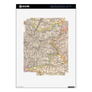 Brandeburgo, mapa del atlas de Posen Pegatinas Skins Para iPad 3