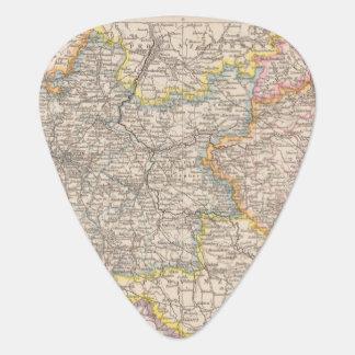 Brandeburgo, mapa del atlas de Posen Uñeta De Guitarra