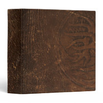 Branded Cowhide Faux Leather 3 Ring Binder
