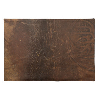 Branded Cowhide Faux Leather Cloth Placemat