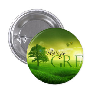 Branded Go Green Pinback Button