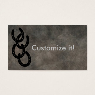 Branded Horseshoes CUSTOMIZABLE BUSINESS CARDS