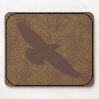 BRANDED LEATHER Eagle MOUSEPAD
