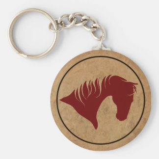 Branded Leather Horse Head KEYCHAIN