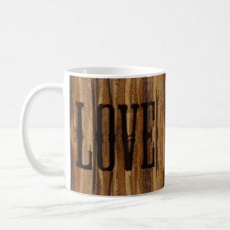 Branded with Love - Faux Wood Design Coffee Mug