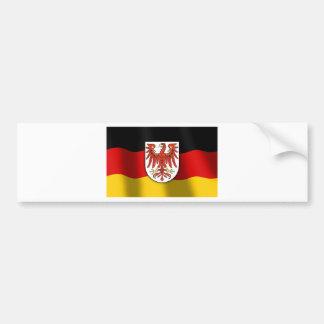 Brandenburg coat of arms car bumper sticker