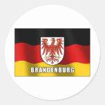 Brandenburg coat of arms classic round sticker
