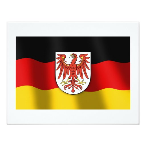 Brandenburg coat of arms 4.25x5.5 paper invitation card