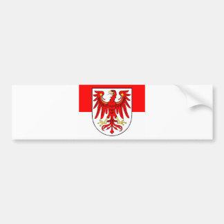 Brandenburg flag car bumper sticker