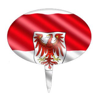 Brandenburg Flag Cake Topper